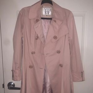 Jackets & Blazers - Belted trench coat pale pink